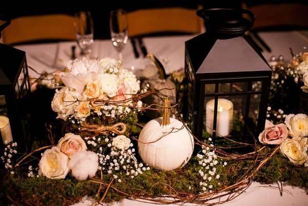 White Pumpkins Wedding Centerpiece Enchanted Florist