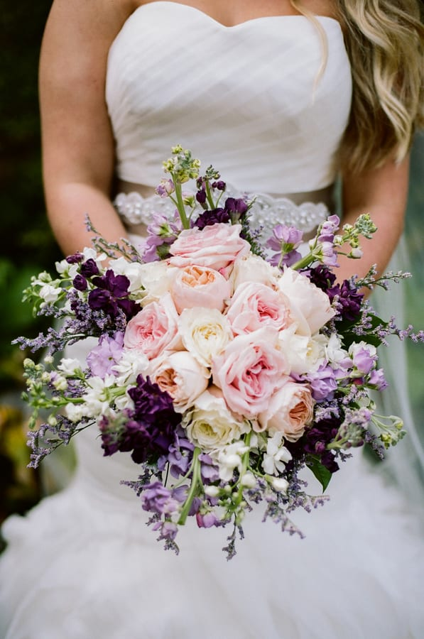 Enchanted Florist | Purple + Gold Fall Wedding at CJ\'s Off the Square