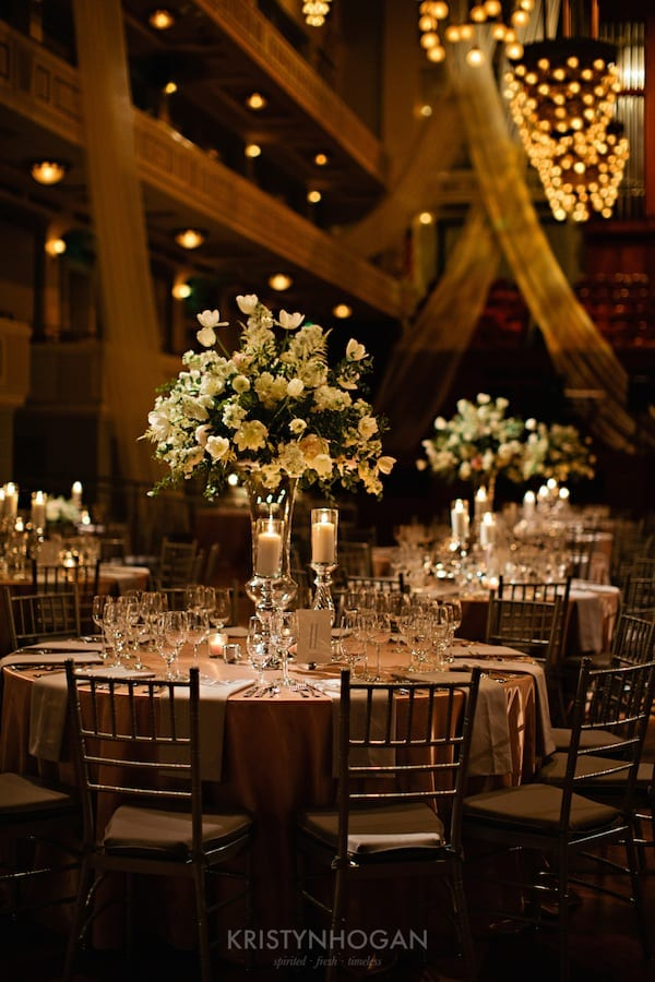 Enchanted Florist, Luxe White Wedding at Schermerhorn Symphony Center, Kristyn Hogan Photography -098