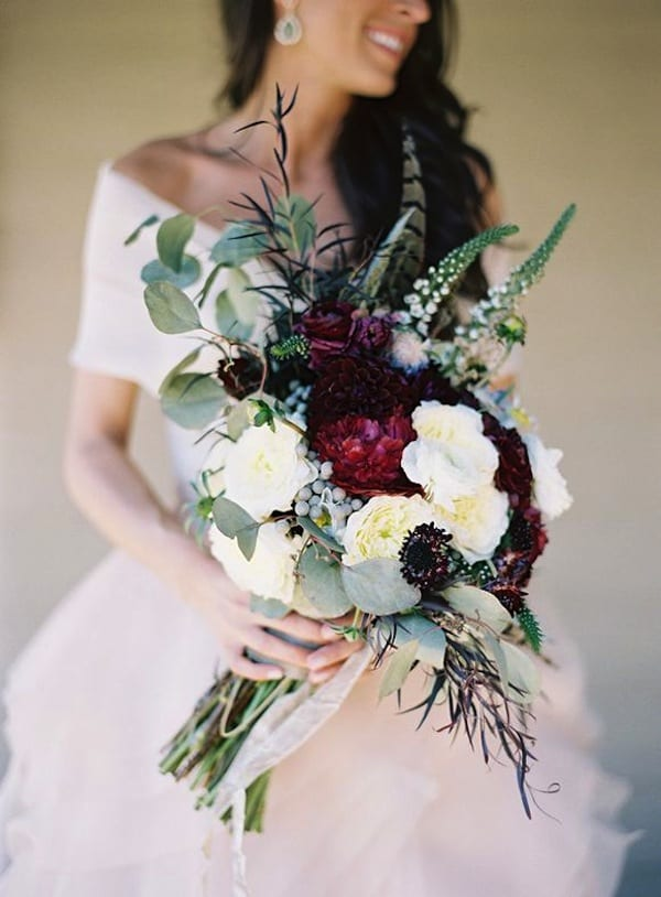 rustic winter bouquet, eric kelley photography